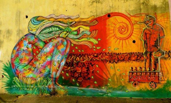 Graffitti de Eder Muniz e Cícero Matos (Foto: reprodução/Facebook Rua Salvador)